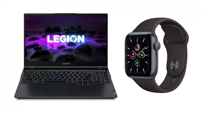Das Lenovo Legion 5 und die Apple Watch SE zum Sonderpreis bei Amazon.