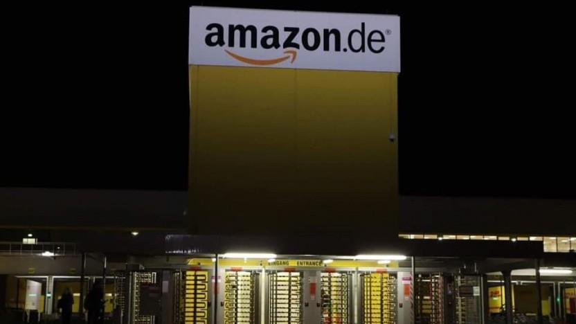 Amazon-Standort am frühen Morgen