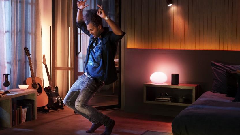 Hue-Leuchtmittel können mit Spotify verbunden werden.