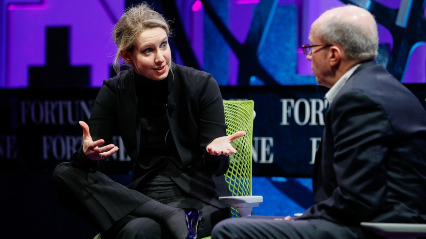 Kurz vor dem Fall: Elizabeth Holmes spricht 2015 auf dem Fortune Global Forum.