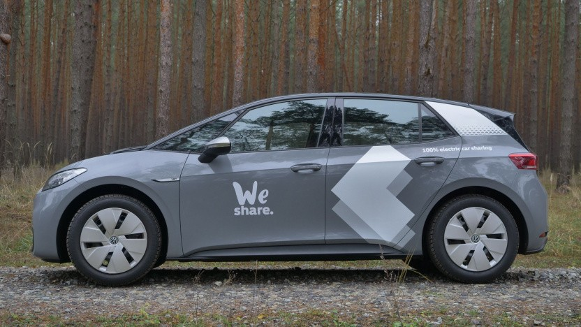 VW ID.3 aus dem Carsharing-Dienst We Share (Symbolbild): Das Abo ist Teil eines größeren Angebots an Mobilitätsdiensten.
