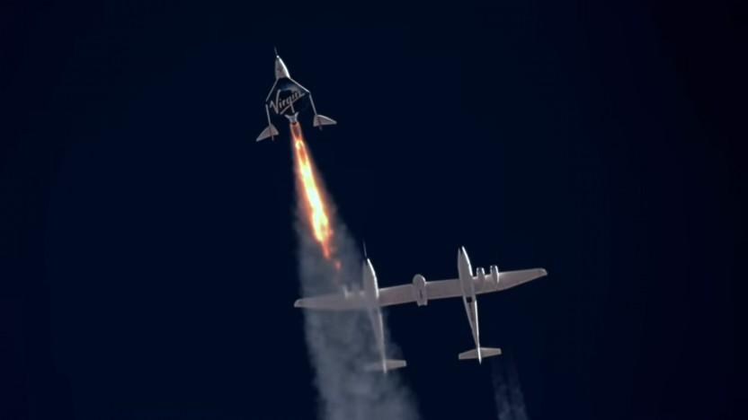Bei der Rückkehr zur Erde verließ Spaceship Two den zugelassenen Luftraum für knapp zwei Minuten.