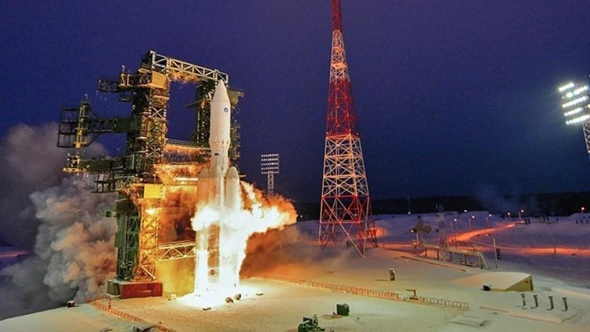 Die Angara-Rakete soll künftig von Wostotschny starten, nicht wie hier von Plesetsk aus.