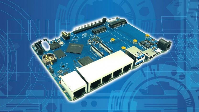 Der BPI-R2 Pro eignet sich für den Routerselbstbau.