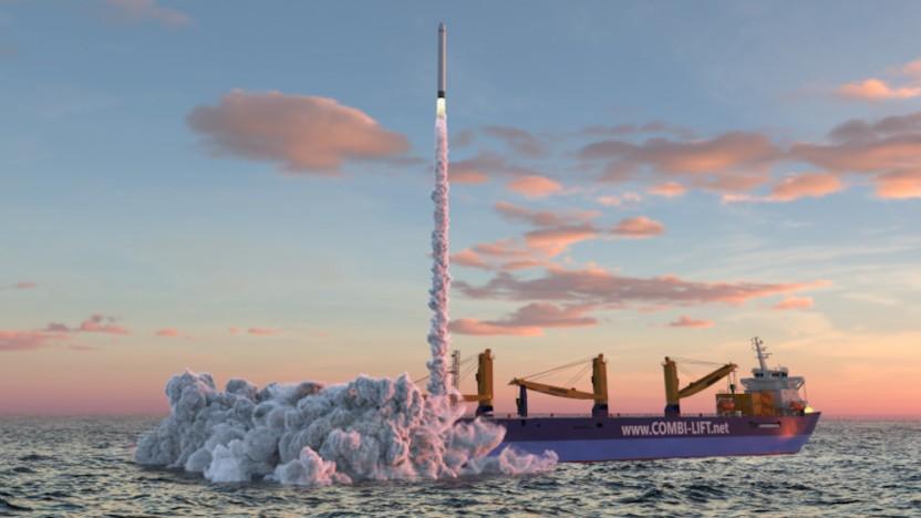 Raketen sollen von einem Schiff auf der Nordsee aus starten.