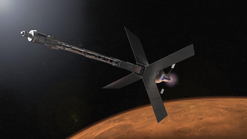 So stellt sich die Nasa ein Raumschiff für den Flug zum Mars mit Nuklearem Antrieb vor.