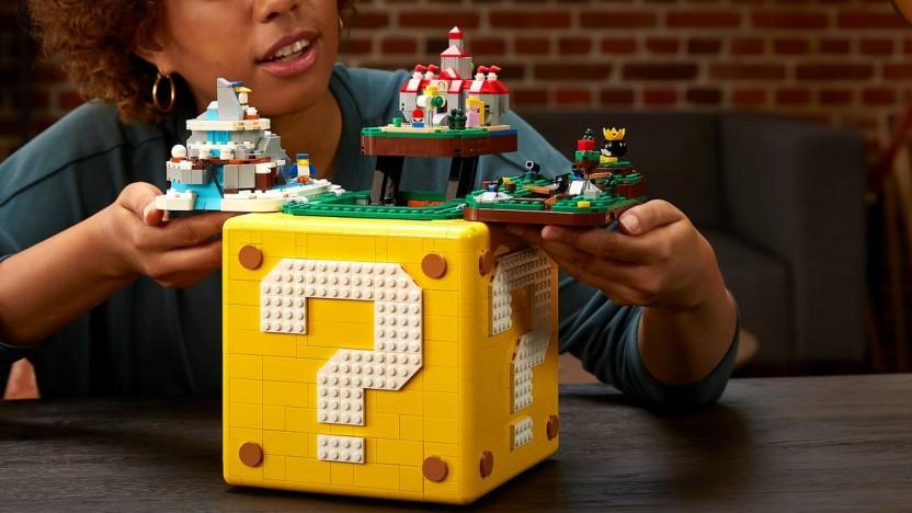 Der Fragezeichenblock enthält kleine Super-Mario-64-Levels.