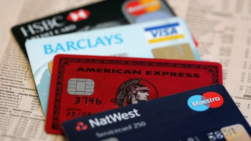 Diverse Kreditkarten - hoffentlich mit aktiviertem 2FA
