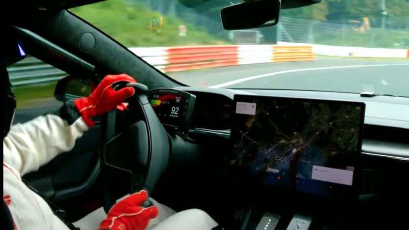 Tesla Model S Plaid auf dem Nürburgring