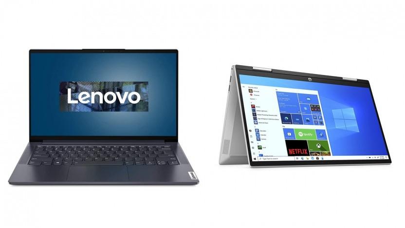 Das Lenovo Yoga Slim 7 und das HP Pavilion x360 sind um 150 Euro reduziert.