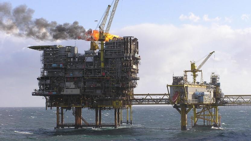 So soll es nicht weitergehen: eine Ölförderplattform im dänischen Teil der Nordsee im Ölfeld Tyra East.