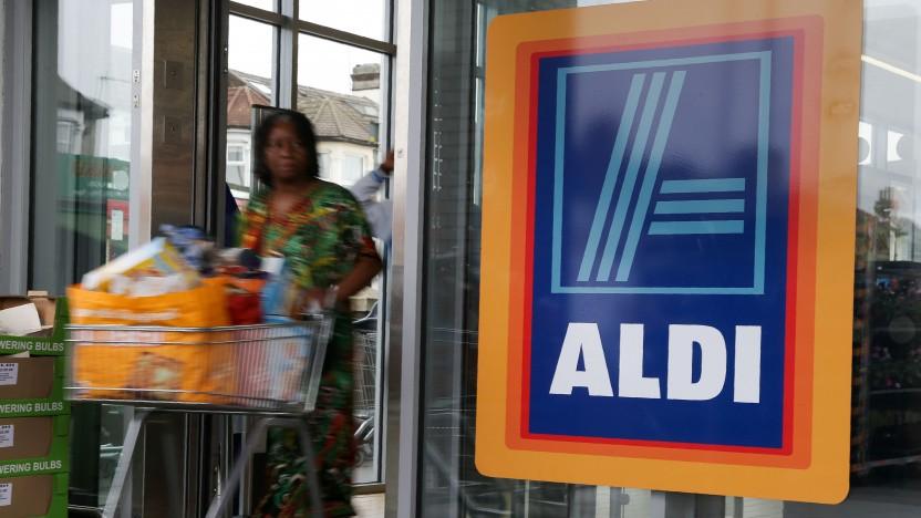 Ein Aldi-Markt in Großbritannien