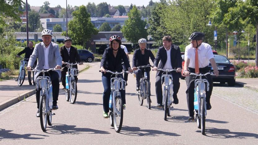 Eröffnung der E-Bike-Station in Vaihingen