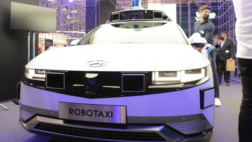 Die Robotaxis von Hyundai verstecken ihre vielen Radarsensoren nicht.