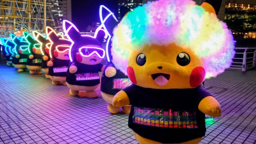 Pokémon bei einer Veranstaltung in der japanischen Stadt Yokohama