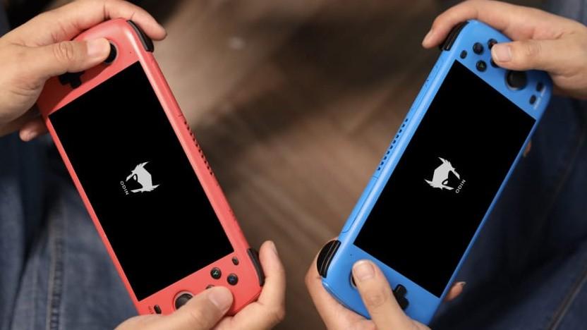 Odin ist eine portable Spielekonsole, die an die Nintendo Switch erinnert.