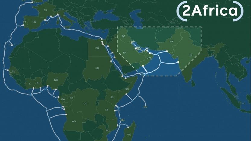 Neuer Abzweig für 2Africa