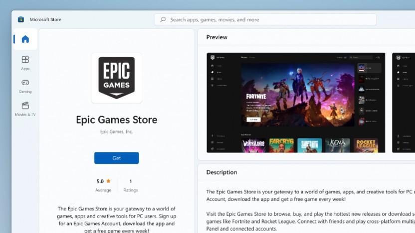 Der Epic Games Store kann künftig im Microsoft Store geladen werden.
