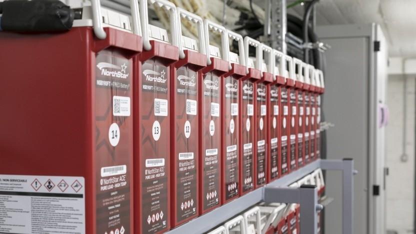 Nur-Blei-Batterien als Teil der USV bei Telefónica Deutschland