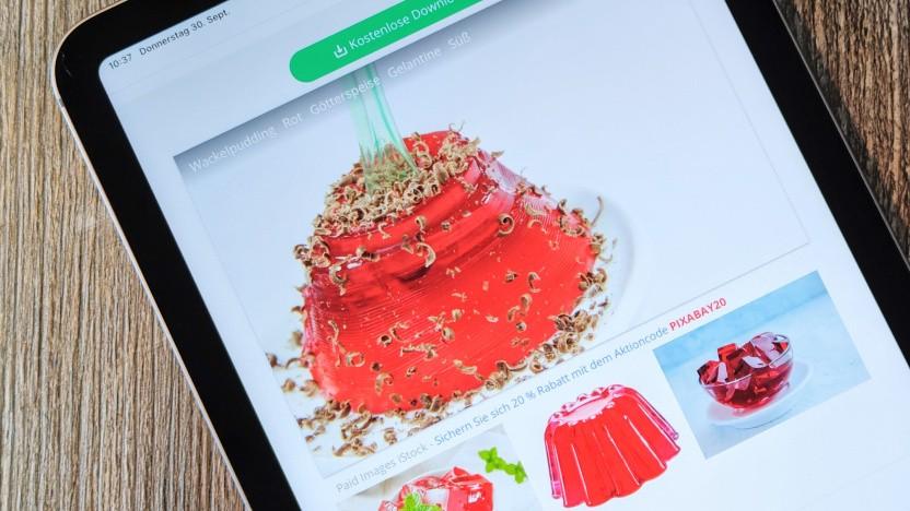 Wackelpudding auf dem iPad Mini