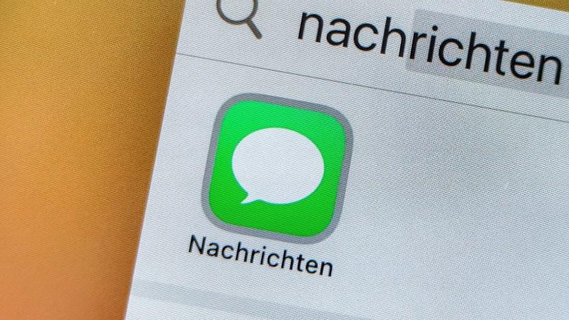 Die Nachrichten-App von Apple