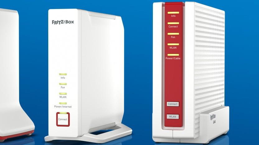 Fritzbox 4060 (links) und Fritzbox 6690 Cable (rechts)