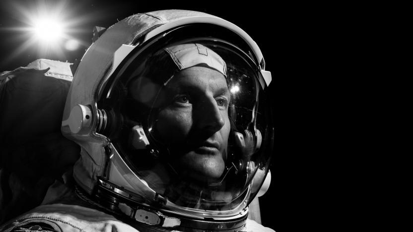 Der Esa-Astronaut Matthias Maurer in seinem Raumfahreranzug