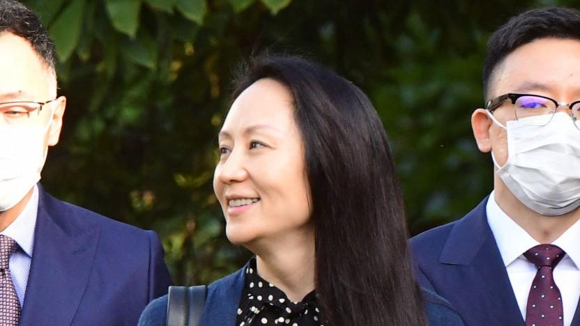 Huawei-Finanzchefin Meng Wanzhou nach dem Prozess in Vancouver