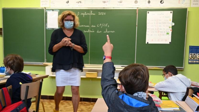 Eine Grundschule im September 2021 in Frankreich