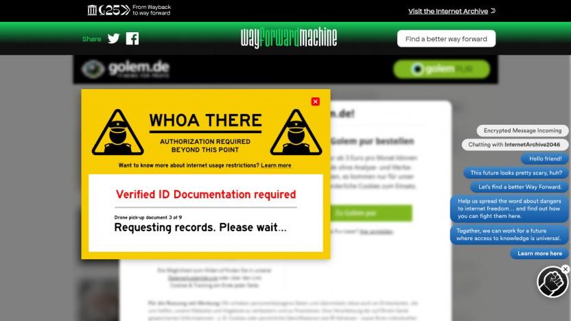 Wayforward Machine: Warten auf die Drohne für den Dokumenten-Pickup