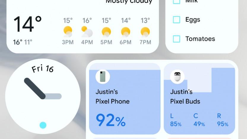 Die neuen Widgets von Android 12