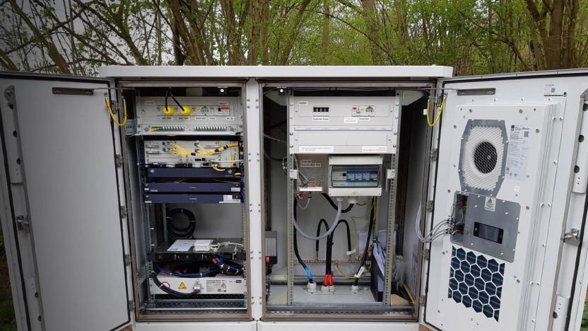 Repeater der DB Broadband, mit der Tele Columbus zusammenarbeitet