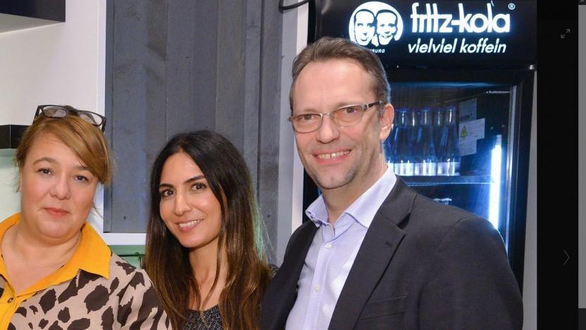 Harald Geywitz von der Telefonica mit Kollegen aus der Chefetage