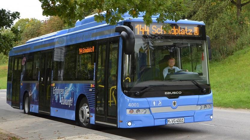 Elektrobus der Münchner Verkehrsgesellschaft (Symbolbild)