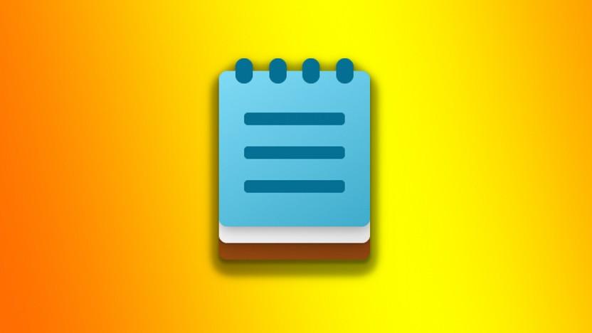 Der neue Notepad-Editor hat weniger Menüpunkte.