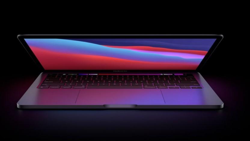 Aktuelles Macbook Pro 13 mit M1-Chip und zwei TB3-Ports