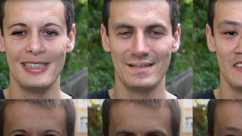 Diese Gesichter sind künstlich erzeugt, könnten aber etwas über die Ausgangsdaten verraten.
