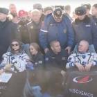 Internationale Raumstation: Russisches Filmteam zurück auf der Erde