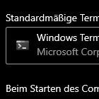 Windows 11: Windows Terminal kann zum Standardprogramm werden