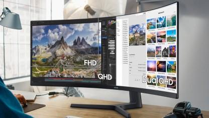 S9U fürs Homeoffice: Samsung stellt 49-Zoll-Ultrawide-Monitor mit KVM-Switch vor