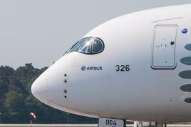 Frontpartie eines Airbus A350: zweitgrößter Flugzeughersteller der Welt (Foto Werner Pluta/Golem.de), Airbus