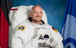 Der Astronaut Alexander Gerst vor dem Start seiner Mission als Kommandant der ISS., Alexander Gerst