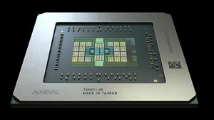 Ein Navi-10-Grafikchip (Bild: AMD), AMD Navi