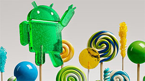 Das Android-Logo als Lollipop. (Bild: Google), Android 5.0 - Lollipop