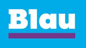 Logo der Mobilfunkmarke Blau (Logo: Telefonica), Blau.de