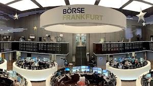 Blick in den Handelssaal der Börse Frankfurt (Bild: Pythagomath/Wikipedia), Börse