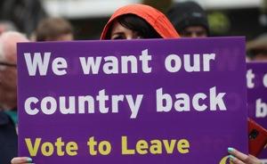 Die Befürworter eines EU-Austritts konnten sich in der Abstimmung durchsetzen., Brexit
