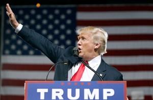 Donald Trump im Wahlkampf 2016., Donald Trump
