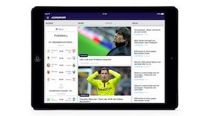 Eurosport 1 auf dem iPad (Bild: Eurosport), Eurosport
