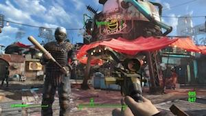 Fallout 4: Markt von Diamond City (Screenshot: Golem.de), Fallout 4
